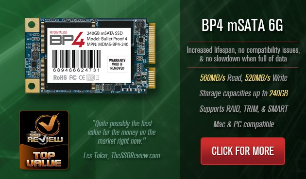 MyDigitalSSD BP4 50mm mSATA 6G SSDs