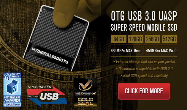 MyDigitalSSD OTG SuperSpeed USB 3.0 Mobile SSD