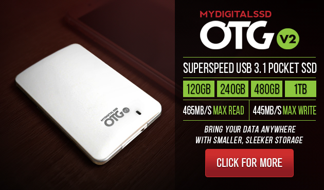 MyDigitalSSD OTG V2 SuperSpeed USB 3.1 Gen 1 Portable SSD with UASP