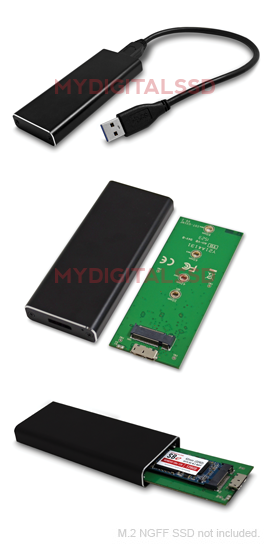 MyDigitalSSD BP Universal USB 3.1 M.2 NGFF Enclosure Adapter