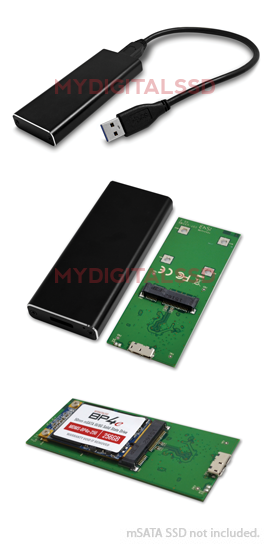 Micro SATA Cables USB 3.1 B Type to M.2 SSD X2 and mSATA SSD X2 Clone and RAID Card